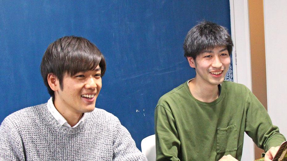 写真:笑顔でインタビューに答えるお二人